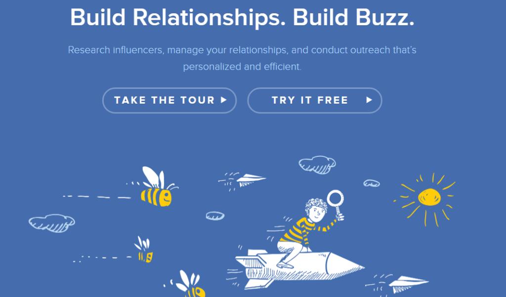 Buzzstream home page