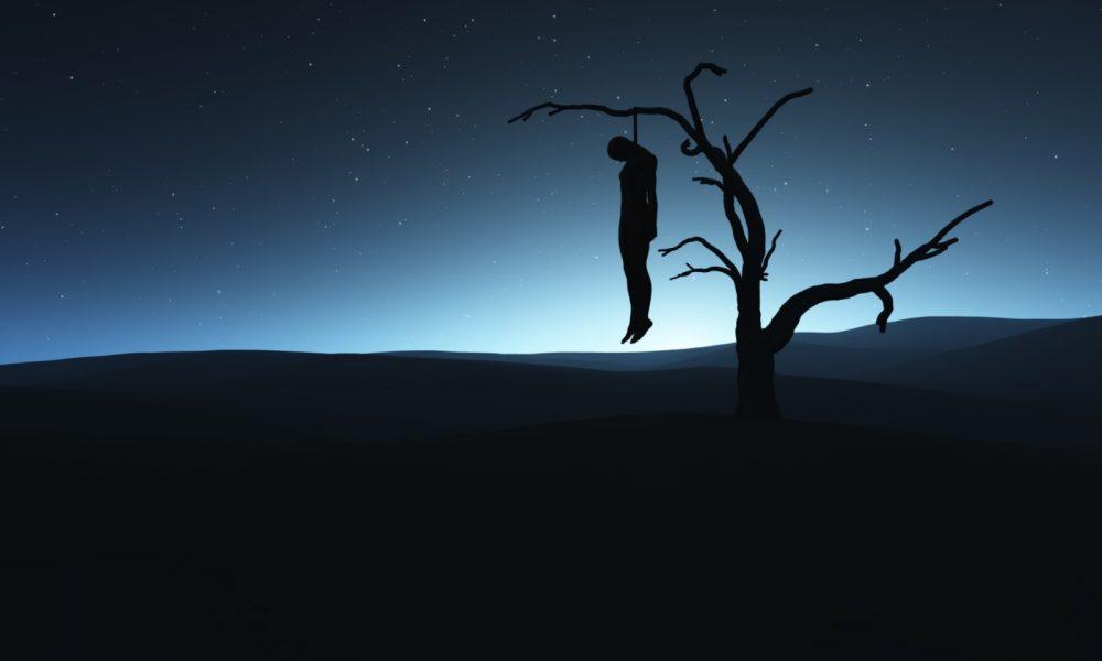 man killing himself