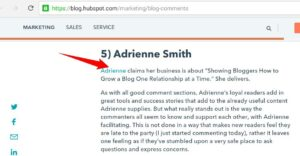 hubspot mention of Adrienne smith