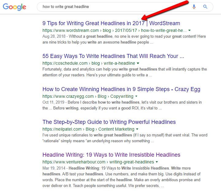 headline formula - Google search