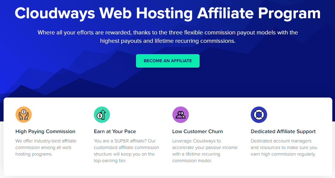 Cloudways affiliate program home page