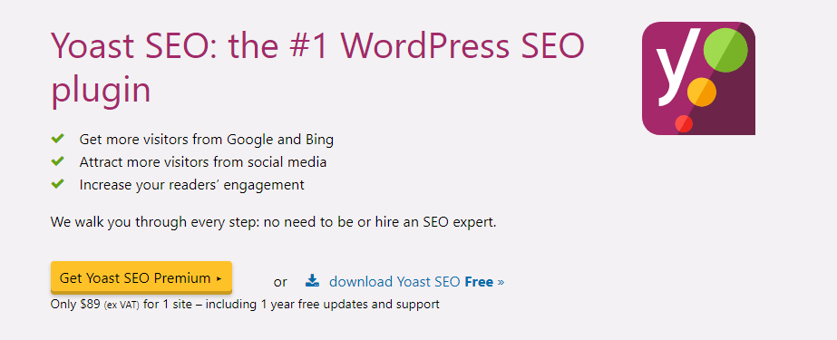 Yoast SEO plugin homepage