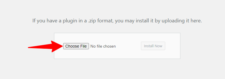 wp panel to choose file from computer