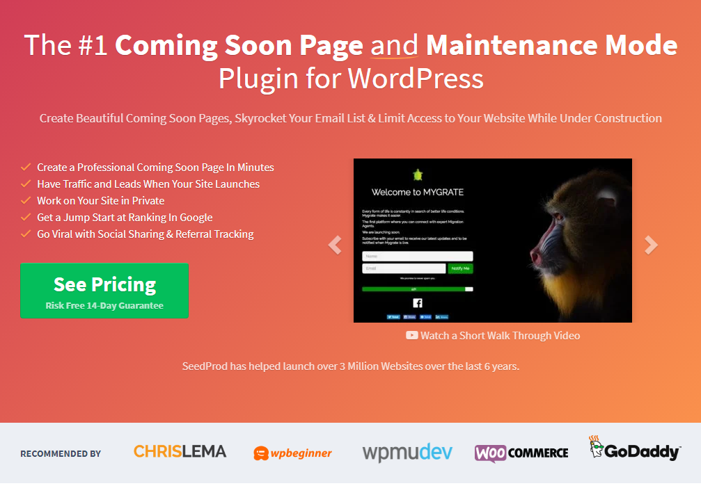 best wordpress coming soon pages - seedprod