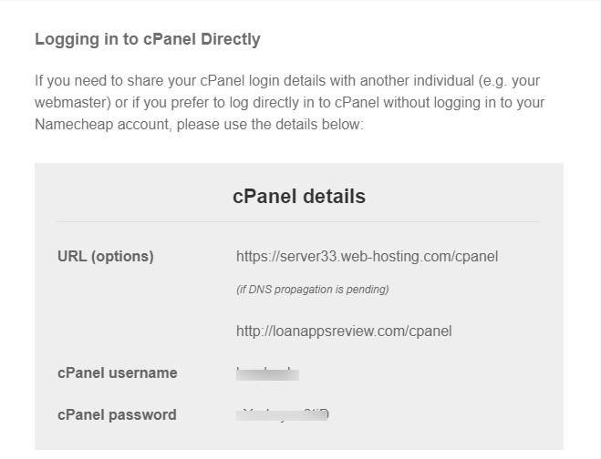 hosting details welcome message