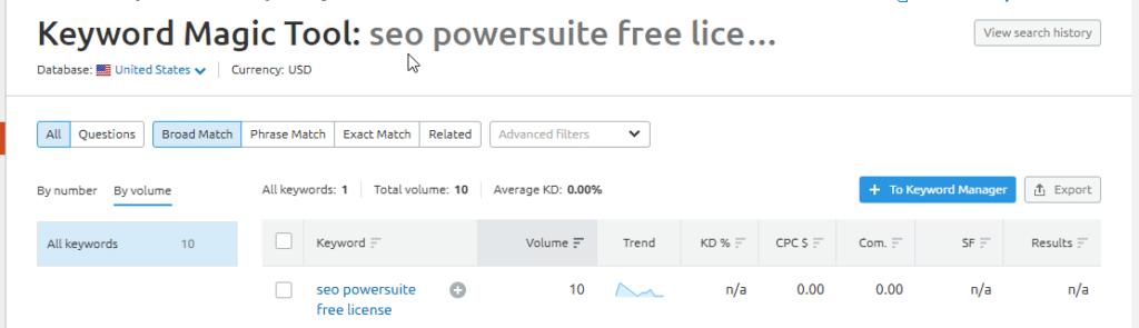 semrush keyword research for seo powersuite