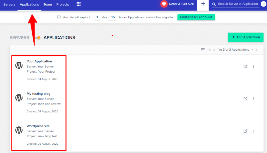 changing domain name in cloudways