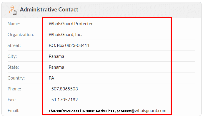 whois guard protected info