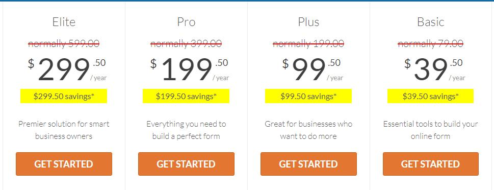 wpforms price list image