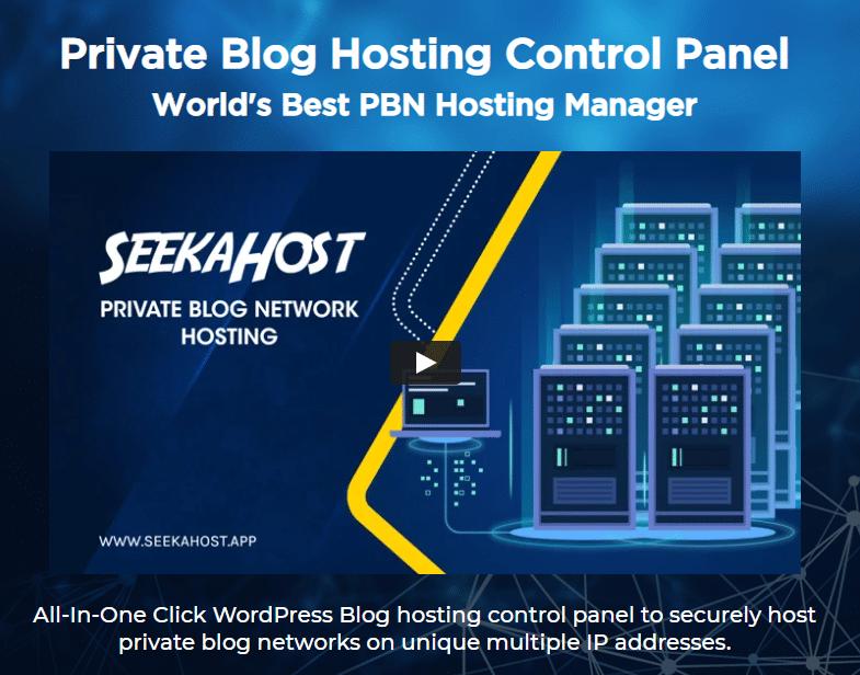 SeekaHost control panel image