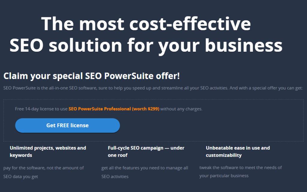 SEO Powersuite 14-days free trial